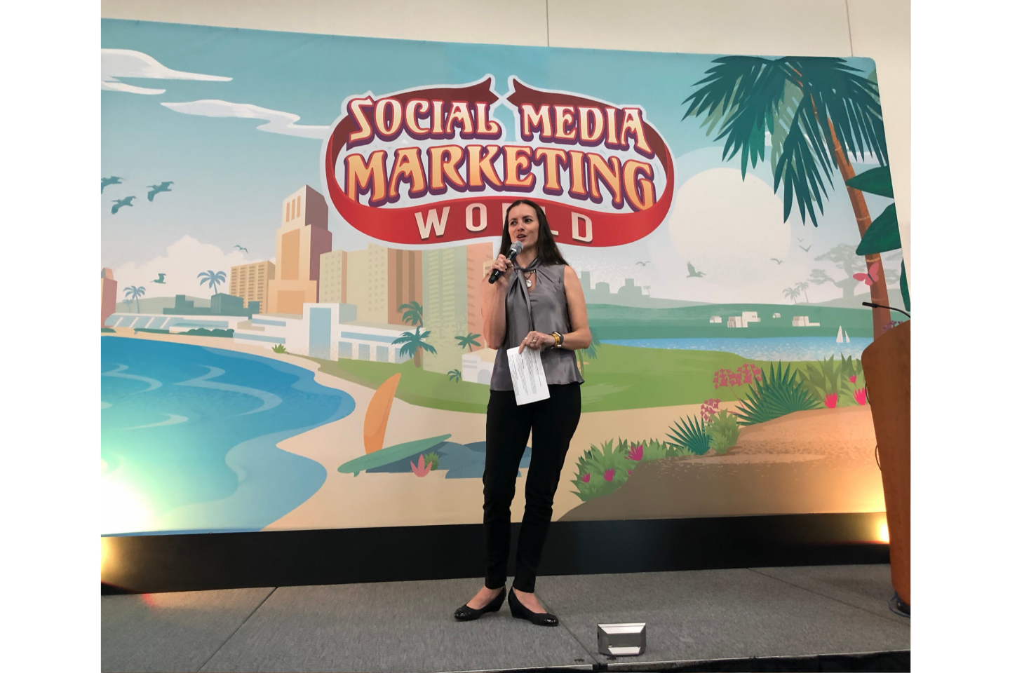 Speaking at Social Media Marketing World