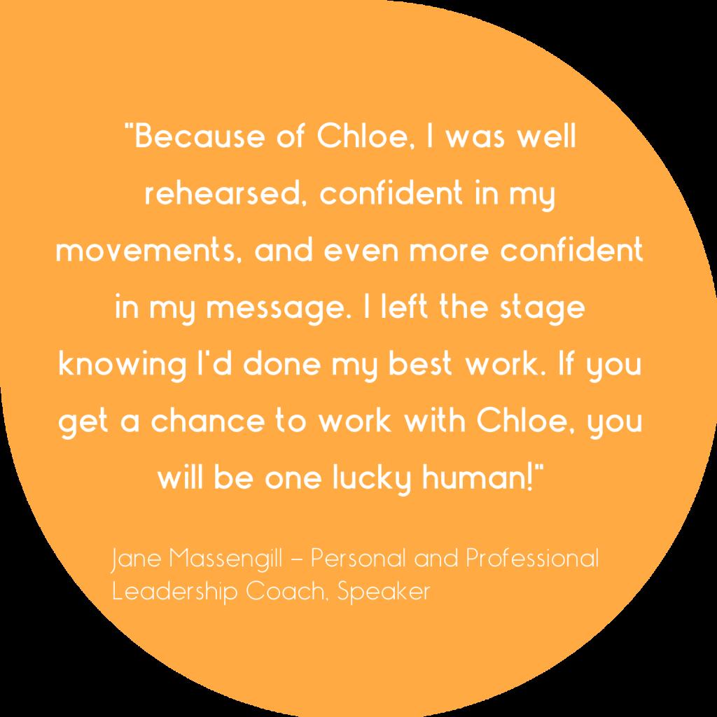 Testimonial for Chloe